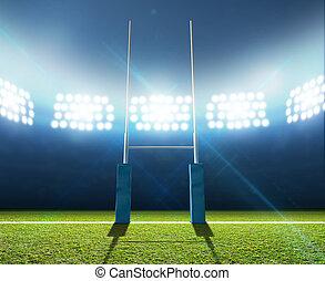 rugby, postes, estadio
