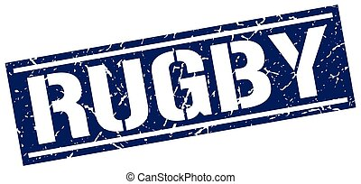 rugby square grunge stamp