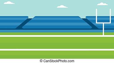 rugby, stadium., plano de fondo