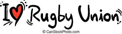 Rugby Union love - Creative design of Rugby Union love
