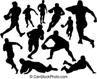 rugby, vecteur, ensemble
