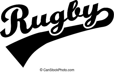 Rugby word retro