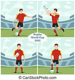 Rugby World Cup 2015 vector concept