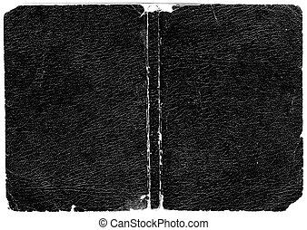 Rugged black leather book cover. Hi-res scanned & optimised. Huge file size.