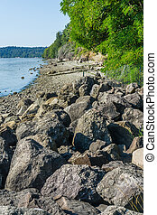 Rugged Coastline - A view of the coastline at Saltwater ...