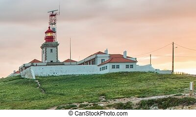 Westernmost Point In Europe, Cabo da Roca Lighthouse. Cabo da Roca is a cape which forms the westernmost point of the Sintra Mountain Range, of mainland Portugal