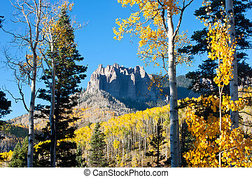 Rugged Mountains in Fall Colorado