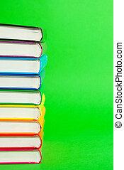 ruggegraaten, books', stapel