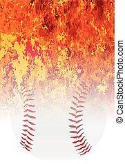 ruggire, baseball, fiammeggiante