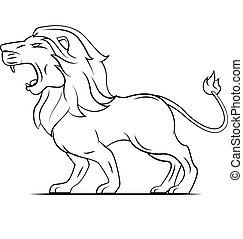 ruggito, leone