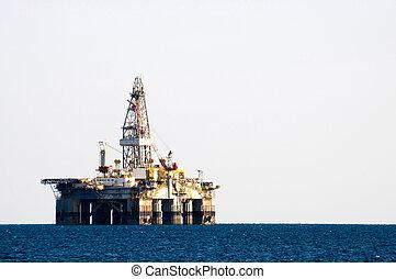 ruha, olaj fúrás, tenger, emelvény