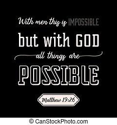 ruhanemű, minden, biblia, ing, isten, vagy, alkalmaz, calligraphic, vers, háttér, tervezés, t, poszter, kasfogó, lehetséges