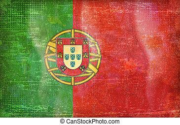 ruhm, fahne, altes , sammlung, portugal
