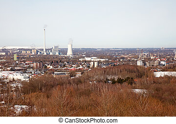 Ruhr area in winter