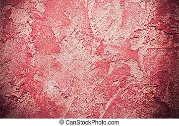 ruige , closeup, rode achtergrond