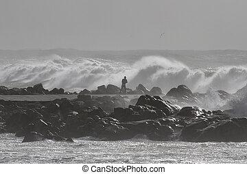 ruige , gevaarlijk, zee