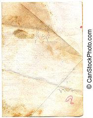 ruige , papier, oud