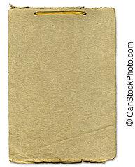 ruige , papier, textuur, met, lint, bindend
