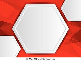 ruimte, abstract, poly, achtergrond, kopie, rood