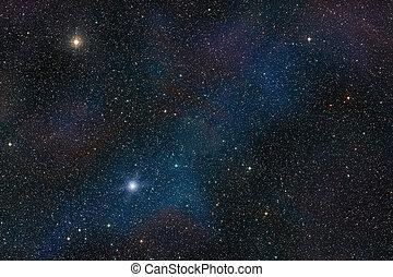 ruimte, achtergrond, ster, buitenst, akker