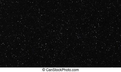 ruimte, billions, van, flikkerend, sterretjes, in de motie
