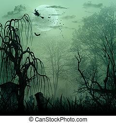 ruimte, halloween, abstract, achtergronden, ontwerp, kopie,...