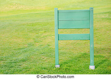 ruimte, houten, meldingsbord, akker, groene, plank, kopie