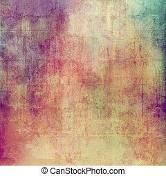 ruimte, ouderwetse , beeld, textuur, tekst, of