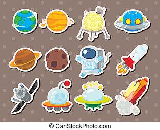 ruimte, stickers