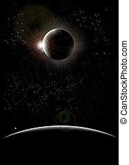 ruimte, vector, achtergrond