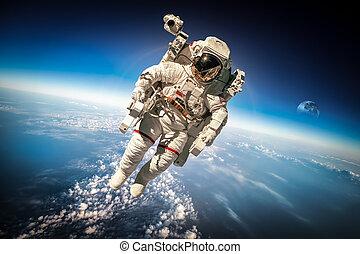 ruimtevaarder, in, buitenste ruimte