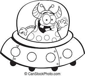 ruimtevaartuig, spotprent