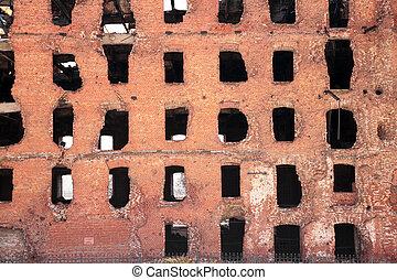 ruin after war in Volgograd