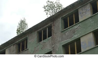 Ruin Building Windows - An abandoned apartments building...