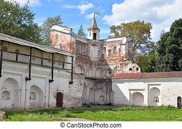 Ruin fortress wall. - Ruin fortress wall in Vologda Kremlin...