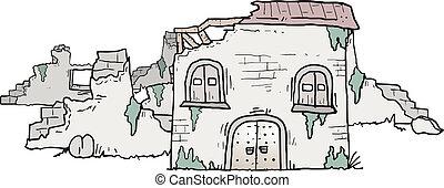 Ruin house - Creative design of ruin house