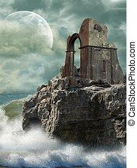 Ruin in a cliff
