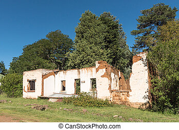 Ruin of a house in Rhodes in the Eastern Cape