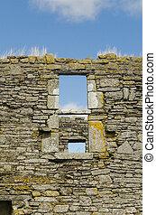 ruin of an old church in ireland