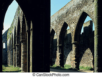 Ruin Pillars - Remains of 10th century abbey of...