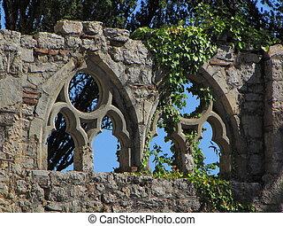 ruin, window