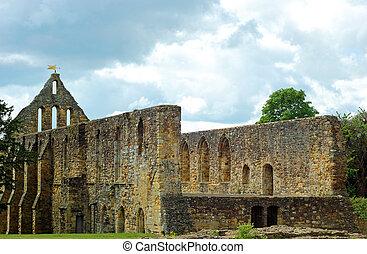 ruina, iglesia, en, abadía de lucha, batalla