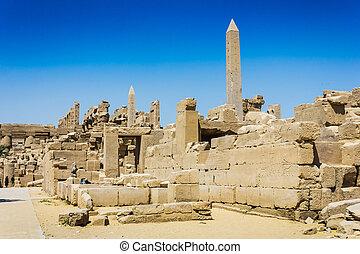 ruinas antiguas, de, karnak, templo, en, egipto
