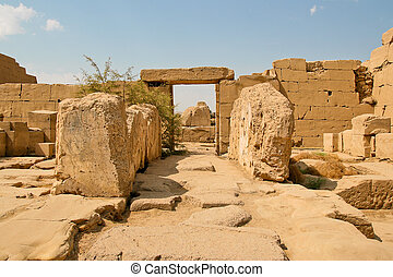 ruinas antiguas, de, karnak, templo, en, egypt.
