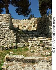 ruinas antiguas, en, jerusalén