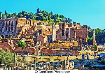 ruinas antiguas, hdr, roma