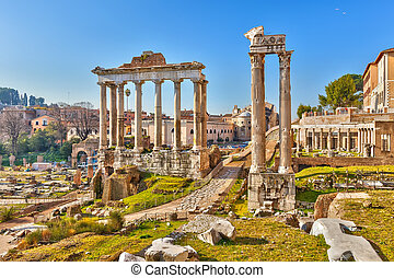 ruinas, romano, roma, foro
