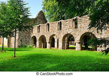 ruine, loburg, église