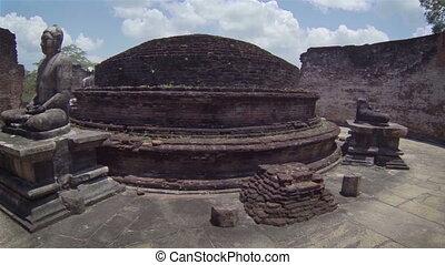 Ruined Buddhist temple complex - Landmarks of Sri Lanka....