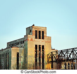An old factoryl, now lying in ruins.